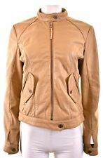 CALVIN KLEIN Womens Leather Jacket Size 18 XL Beige Leather  IW01