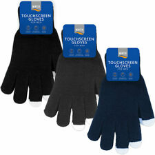 Men's Cosy Winter Thermal Warm Woolly  Gripper Magic Touch screen/phone Gloves