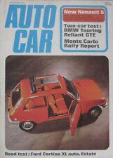 Autocar magazine 3/2/1972 featurimg Reliant Scimitar GTE, BMW, Ford road test
