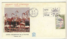 Timbres premier jour français de 1966 à 1970 roses
