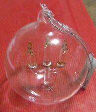 Décoration de sapin verre boule et chandelier (NO32)