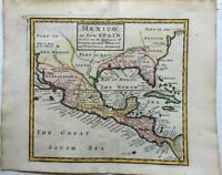 Mexico New Spain California as an island 1713 Moll miniature map hand color