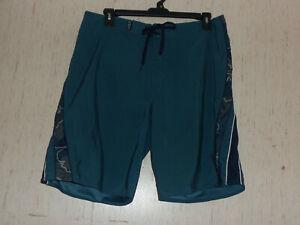 EXCELLENT MENS Crazy Shirts HAWAII DARK BLUE BOARD SHORTS   SIZE 36