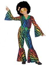 Déguisement Fille Disco Multicouleur 7/8/9 Ans Costume Enfant Années 1980