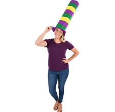Mardi Gras Felt Stove Pipe Hat