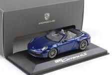 Porsche 911 992 Carrera 4S Cabriolet 2019 enzianblau metallic 1:43 Minichamps WA