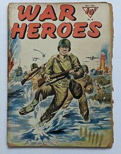 War Heroes #6 (Dec 1943, Dell) Good- 1.8 L.B. Cole inks, Lou Ferstadt art