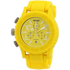 NEW NIXON YELLOW,ALL RUBBER,42 20 CHRONOGRAPH  WATCH A309250-00