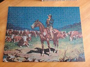 "JK Straus Interlocking Wood Jigsaw Puzzle - ""night rider"" 550 pieces #228"