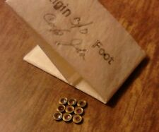 9 NOS Elgin 3/0 Balance Foot Cap Jewels-Very Good Original Condition