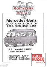 Mercedes Benz TN 207D 208D 307D 308D to 410D Pocket Mechanic Manual 1977-95 *NEW