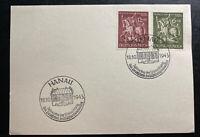 1943 Hanau Germany Souvenir Postcard Cover FDC goldsmiths houses Cancel