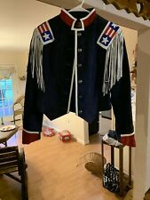 Patriotic Frontier Collection USA Fringe Cropped Womens Leather Jacket Medium