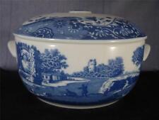 Spode Blue Italian Forno alla Tavola Pentola con coperchio-Made in England s1709