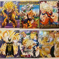 """RARE lot 6 DRAGON BALL Z  Posters 15"""" x 20.5"""" Goku Saiyan Vegeta Gohan Piccolo"""