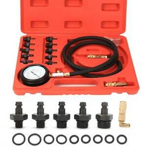 Oil Pressure Meter Tester Kit Test Gauge 0-140 PSI Diesel Petrol Garage Tool