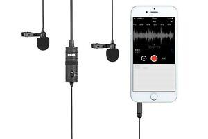 Boya BY-M1DM - Dual-Lavalier-Universalmikrofon