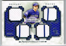 TROY TULOWITZKI 2014 TOPPS MUSEUM COLLECTION 4 PIECE JERSEY # 46/99 ROCKIES