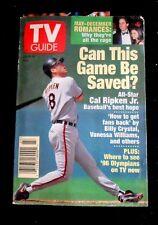 1995 TV Guide Cal Ripken Jr. Baseball's best hope; where '96 Olympians on TV now