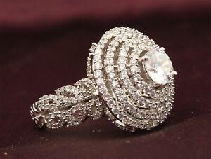 Cubic Zirconia Designer Art Cuff Wedding Ring 42 WR 7