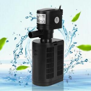 3 in 1 Fish Tank Aquarium Submersible Water Power Internal Filter Pump 1000L/H