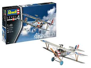 Revell 03885 Académie Nieuport 17, Avion Kit de Construction Modèle 1:48