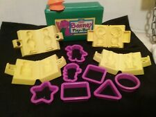Play-Doh Barney Molding Pals Playshop In Box 1993 with extras,  Tonka inc.