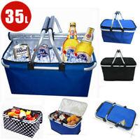 35L Kühltasche Thermo Einkaufskorb Picknick Kühlbox Camping Taschen Faltbar Heiß