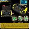 12/24V 8A 4A 150Ah Caricabatterie Mantenitore Batteria Con Cavetti Per Auto Moto