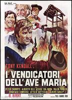 I VENDICATORI DELL'AVE MARIA MANIFESTO CINEMA FILM WESTERN 1971 MOVIE POSTER 2F