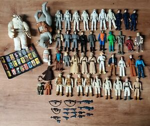 Star Wars 44 Figure Lot Vintage Kenner 1977 to 1980s Original collection figures