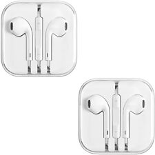 2PCS New Generic Earphones Earbuds With Remote and Mic for Apple IPhone 4,5,6,+