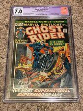 Marvel Spotlight 5 CGC 7.0 Purple 1st Appearance/Origin Ghost Rider Johnny Blaze