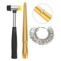 Finger Measuring Stick Hammers Ring Sizer Jewelry Maker's Jewellery Making Tools