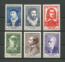 FRANCE 1956 .. 1066-1071 ... MNH ** Celebrities ... Famous Peoples ...YT 48€