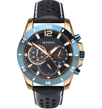 SEKONDA MENS TWO TONE ROSE GOLD PLATED CHRONOGRAPH WATCH MODEL 1489 RRP £89.99