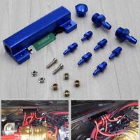 6-Port 1/8 NPT Vacuum Intake Manifold Turbo Wastegate Boost Kit Blue