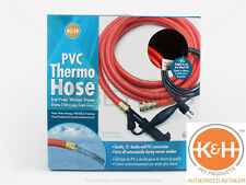K&H Outdoor Thermo Heated Garden Water Hose PVC 40 Feet Barn Kennel Farm Garage