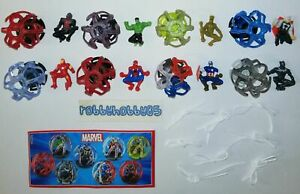 MARVEL AVENGERS COMPLETE SET OF 8 WITH ALL PAPERS KINDER SURPRISE 2019