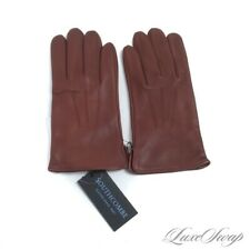 NWT Southcombe England Hinton Chestnut Brown Leather Silk Lined Gloves S NR #4