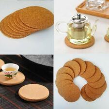 Cork Wood Drink Coaster Tea Coffee Heat Resistant Cup Pads Table Decor Tableware