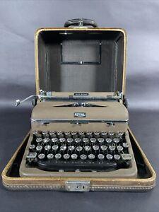 Rare Brown 1940s Royal Quiet Deluxe with Original Tweed Case Hemingway