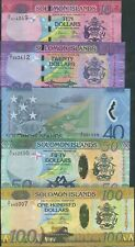 Solomon Islands; 10 20 40 50 100 Dollars; UNC; All X/1 Replacement notes, scarce