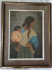 """Louis Toffoli Signed Lithograph 123/275 """"Femme à l'enfant"""" (Woman with Child)"""