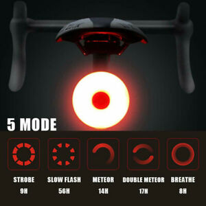 LED USB Bike Rear Tail Light Rechargeable Bicycle Cycling Waterproof Sports Lamp