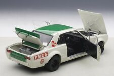 Autoart NISSAN SKYLINE GT-R KPGC-10 JAPAN GP 2ND PLACE 1971 HASEMI #8 1/18 New!