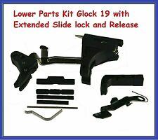 LPK Glock 19 with Polymer Trigger + Extended Slide lock + Extended Release
