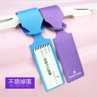 Premium PU Leather Luggage Tags Suitcase Labels Baggage Handbag Tag for Travel