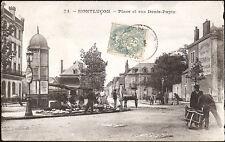 MONTLUÇON (03) - Place et Rue Denis-Papin (marchandes)