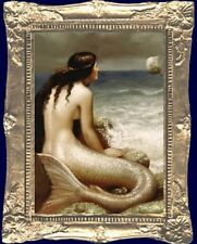 MERMAID OF THE SEA Dollhouse Miniature Art Picture - MADE IN USA. FAST DELIVERY!